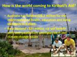 how is the world coming to kiribati s aid