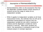 assumption of homoscedasticity1