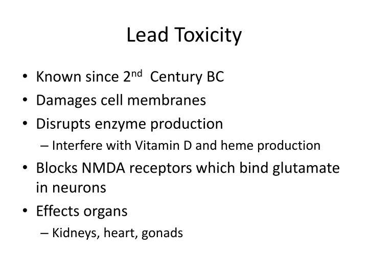 Lead toxicity