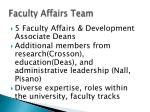 faculty affairs team