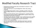 modified faculty research tract