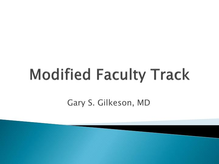 modified faculty track n.