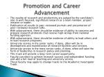 promotion and career advancement