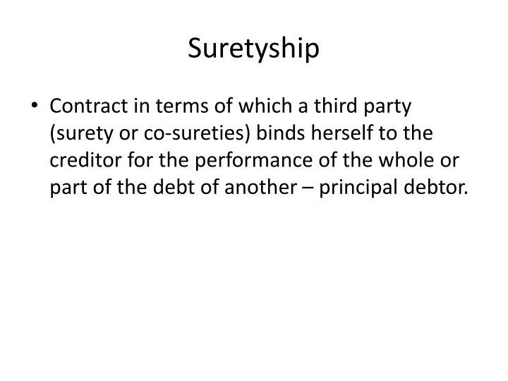 Suretyship1