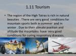 1 11 tourism