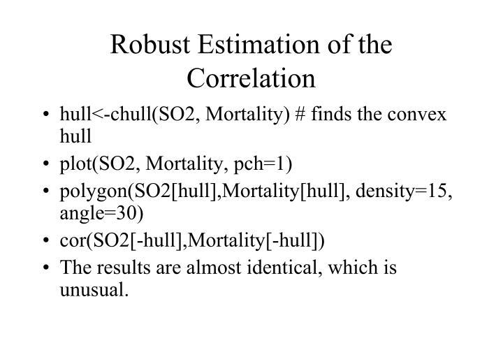Robust Estimation of the Correlation