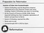preparation for reformation14