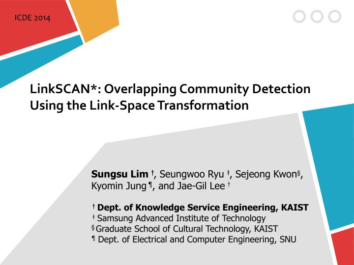 linkscan overlapping community detection using the link space transformation n.