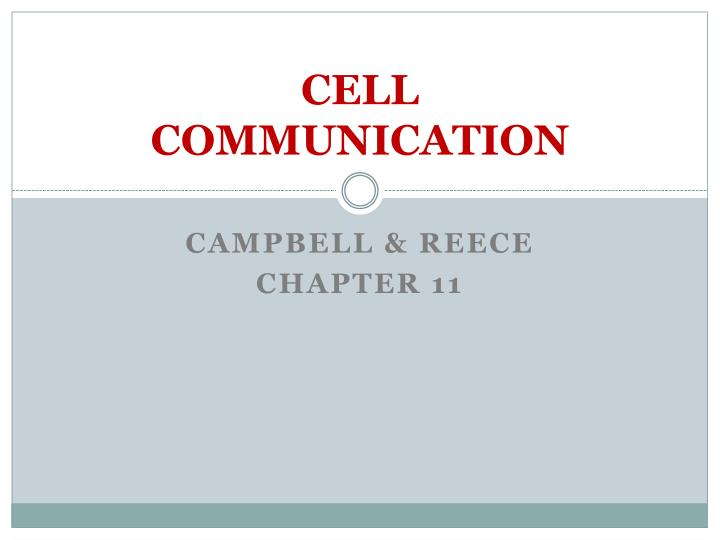 cell communication n.