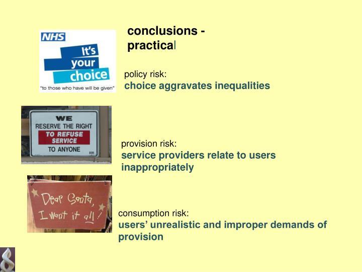 conclusions - practica