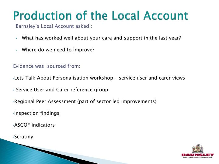 Production of the Local Account