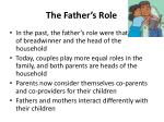 the father s role