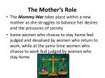 the mother s role1