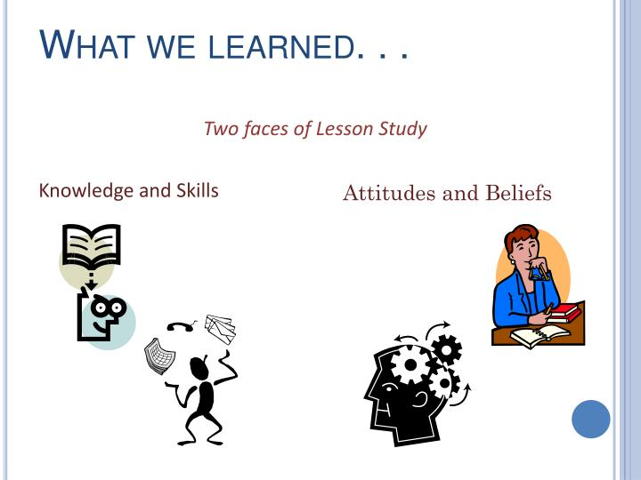 What we learned. . .