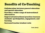 benefits of co teaching