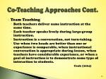 co teaching approaches cont2