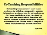 co teaching responsibilities
