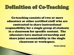 definition of co teaching