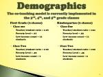 demographics the co teaching model is currently implemented in the 3 rd 4 th and 5 th grade classes