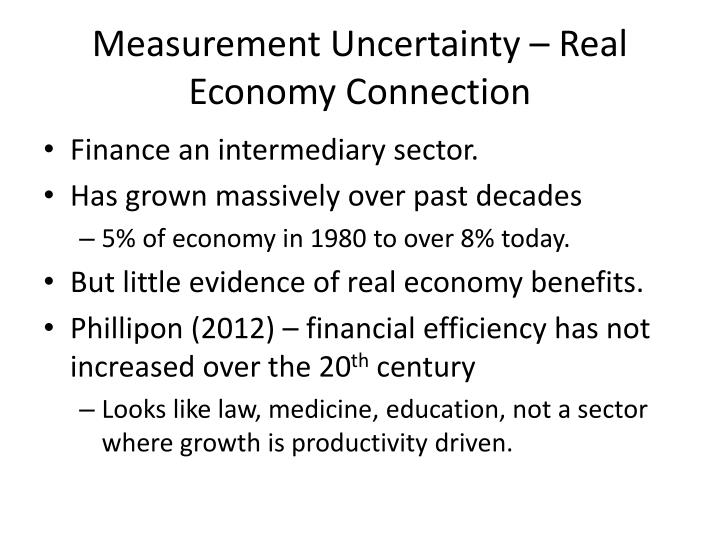 Measurement Uncertainty – Real Economy Connection