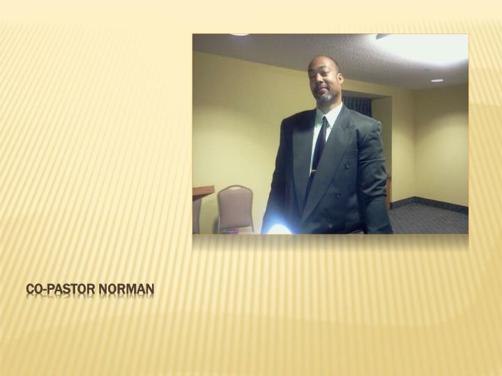 Co-pastor Norman