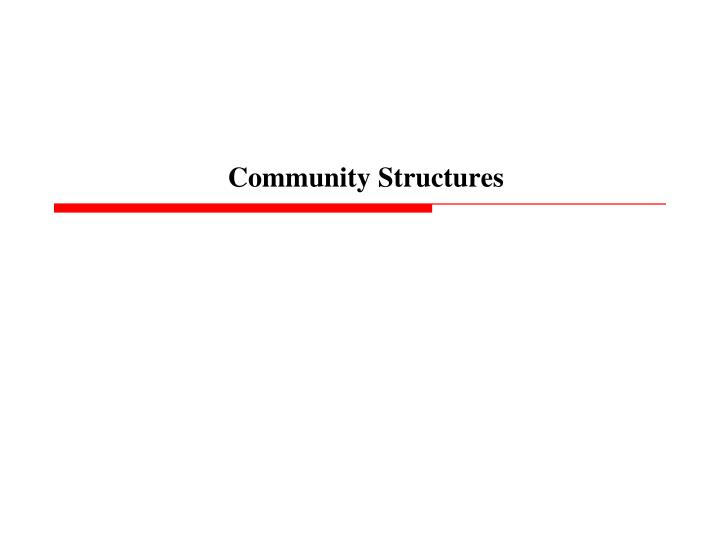 community structures n.