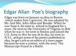 edgar allan poe s biography