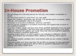 in house promotion