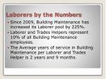 laborers by the numbers