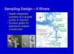 sampling design 5 rivers