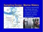 sampling design marine waters