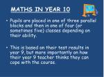 maths in year 10