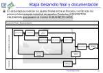 etapa desarrollo final y documentaci n