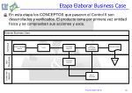 etapa elaborar business case