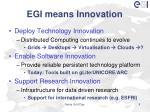 egi means innovation