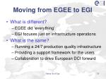 moving from egee to egi