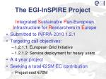 the egi inspire project