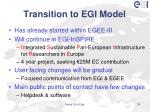 transition to egi model