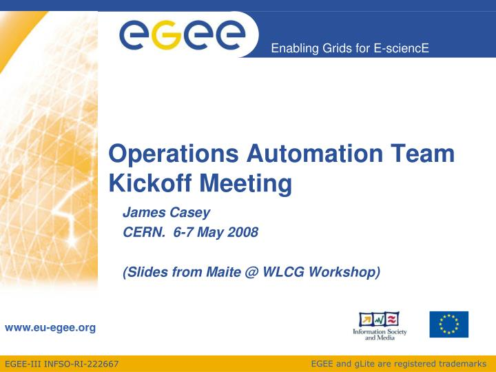 operations automation team kickoff meeting n.