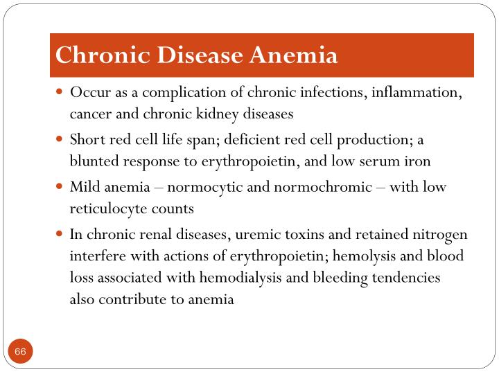 Chronic Disease Anemia
