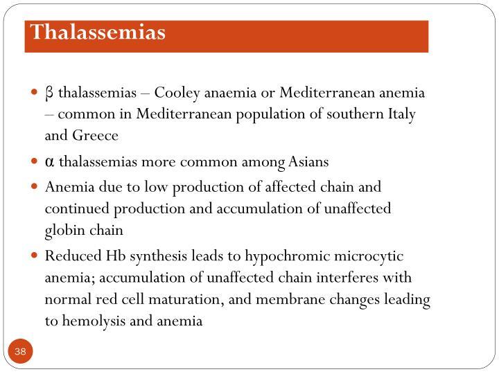Thalassemias
