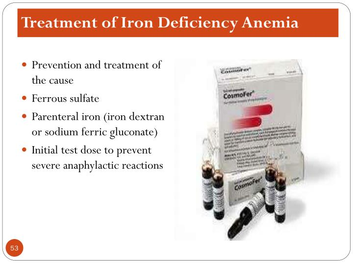 Treatment of Iron Deficiency Anemia