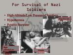 for survival of nazi soldiers