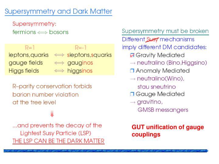 GUT unification of gauge couplings