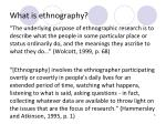 what is ethnography1