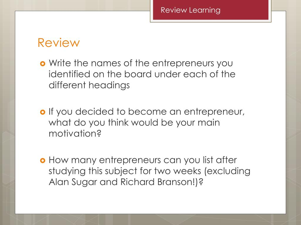 PPT - Characteristics of Entrepreneurs PowerPoint