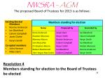 nwsra agm the proposed board of trustees for 2013 is as follows