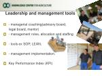 leadership and management tools