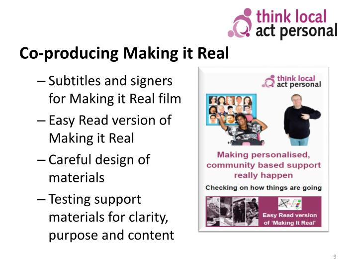 Co-producing Making it Real