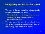 interpreting the regression model